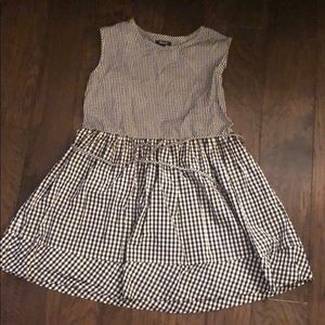 Madewell Gingham Tie Back Minidress size small